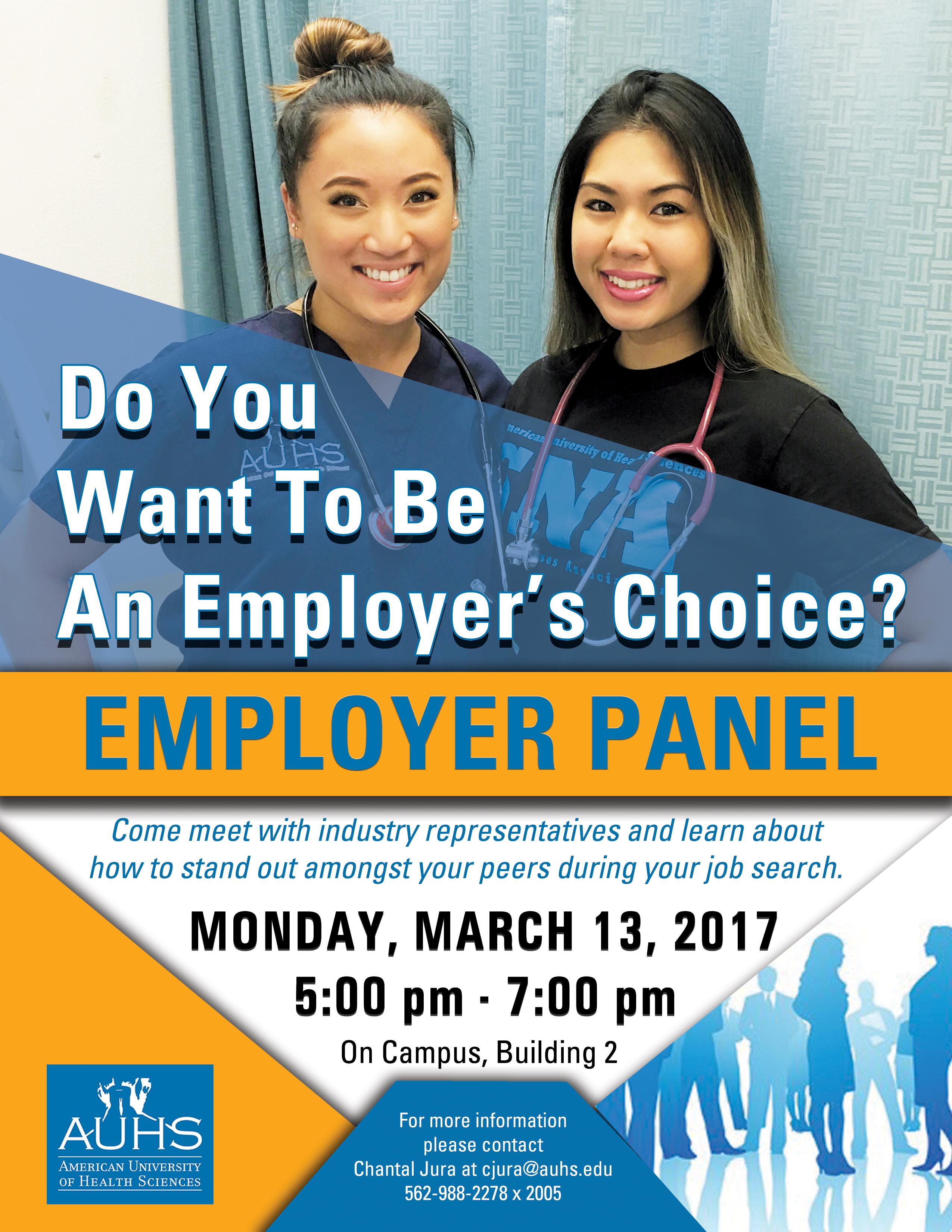 AUHS First Bi-Annual Employer Panel