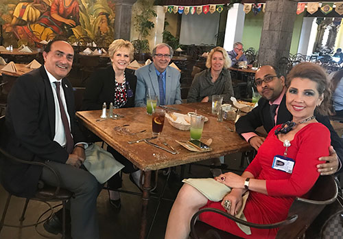 Organizational meeting for the AUHS-CDU collaboration: L-R: Dr. Jaydutt Vadgama (UCLA/CDU), Dr. Caroll Ryan (AUHS), Dr. John Schloss (AUHS), Dr. Petra Wise (CDU), Dr. Arjun Dutta (AUHS), Dr. Marilyn Uvero (AUHS).